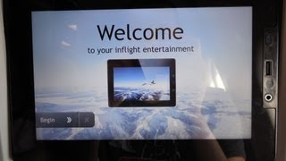 Lufthansa New Inflight Entertainment 2013. Airbus A330-300. Real time altitude, USB port, touch...
