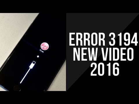 How to Fix iTunes Error 3194 on iOS 9 / 10 - iPhone, iPad & iPod Touch