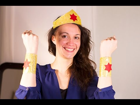 diy wonder woman costume youtube. Black Bedroom Furniture Sets. Home Design Ideas