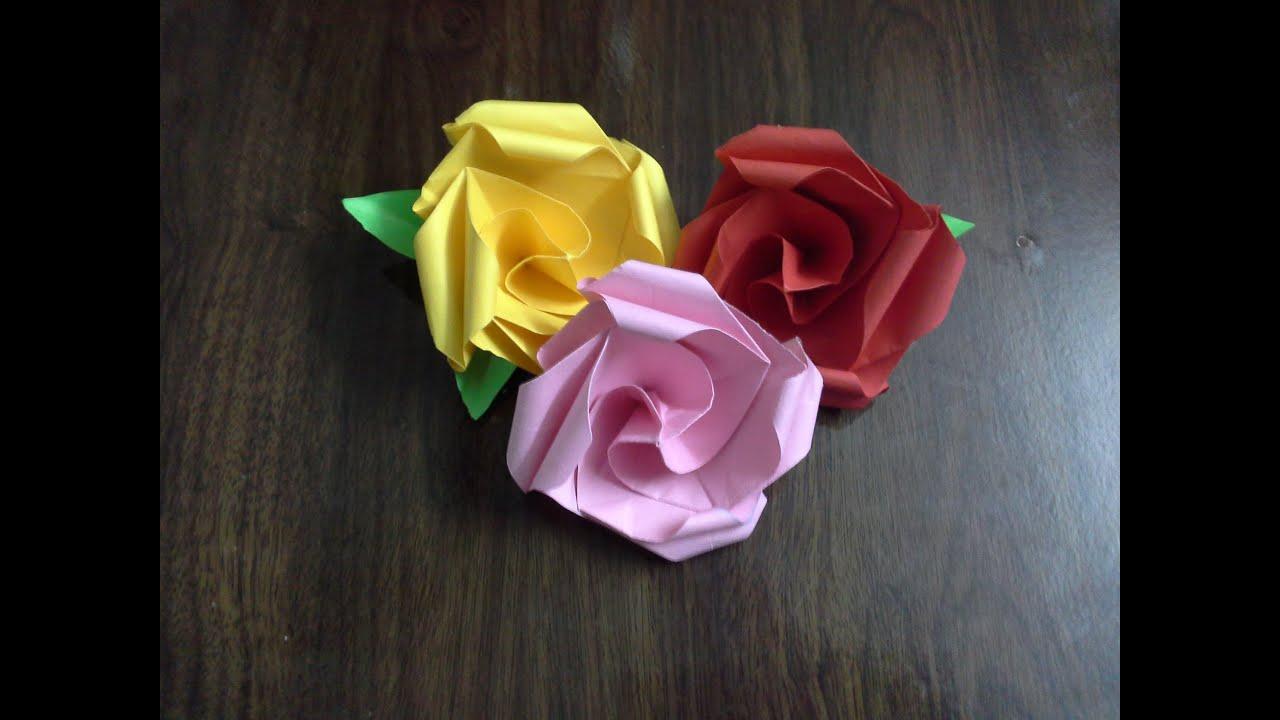 origami flower printer paper