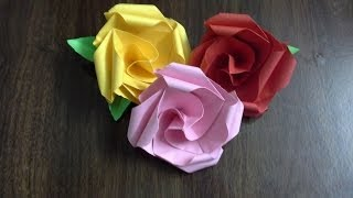 how to make a paper rose (DIY valentine flower) origami twisty rose