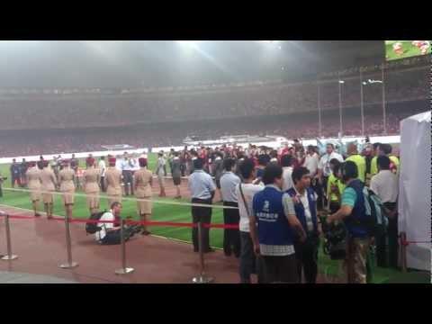 Manchester City vs. Arsenal 27 Jul 2012 Birds Nest Stadium Beijing, China