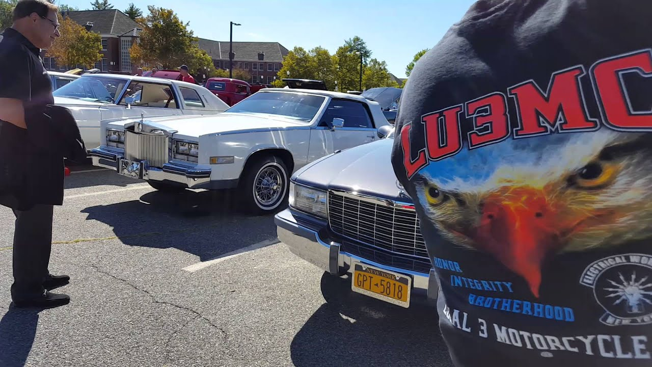 State College CSI car show 2015 over 45 Cadillacs we took over Long