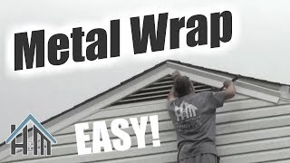 how to install replace metal wrap, vinyl wrap trim coil. Easy! Home Mender.