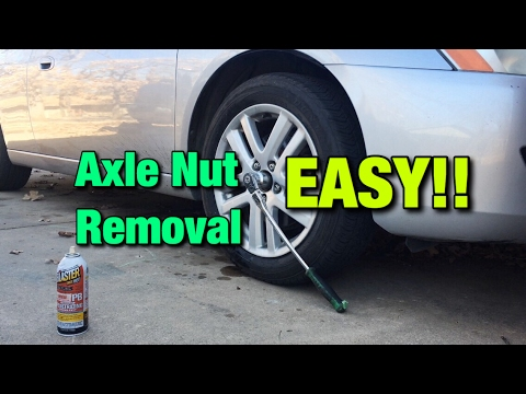 How To Remove An Axle Nut Without An Impact