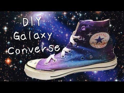 DIY Galaxy Converses(acrylic)