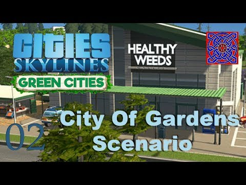 Cities Skylines Green Cities :: # 02 Green Power : City of Garden Gameplay