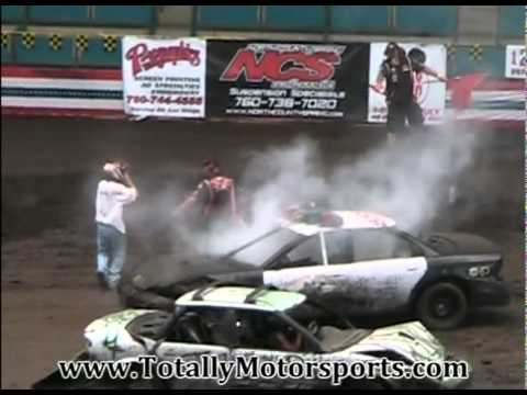 Califonia Highway Patrol Demolition Derby Car  7-4-2011