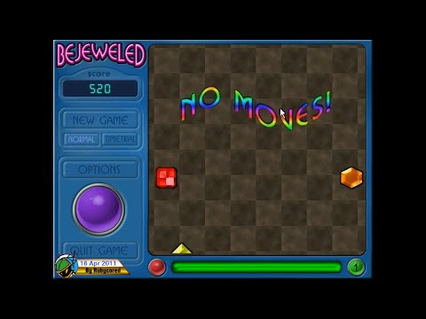 Bejeweled v1.4 (PC) - Failing Level 1 [720p60]
