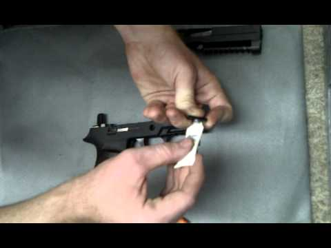 repair sig sauer p250 stuck takedown lever,  40 cal