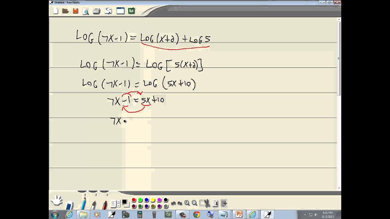 Homework help logarithms