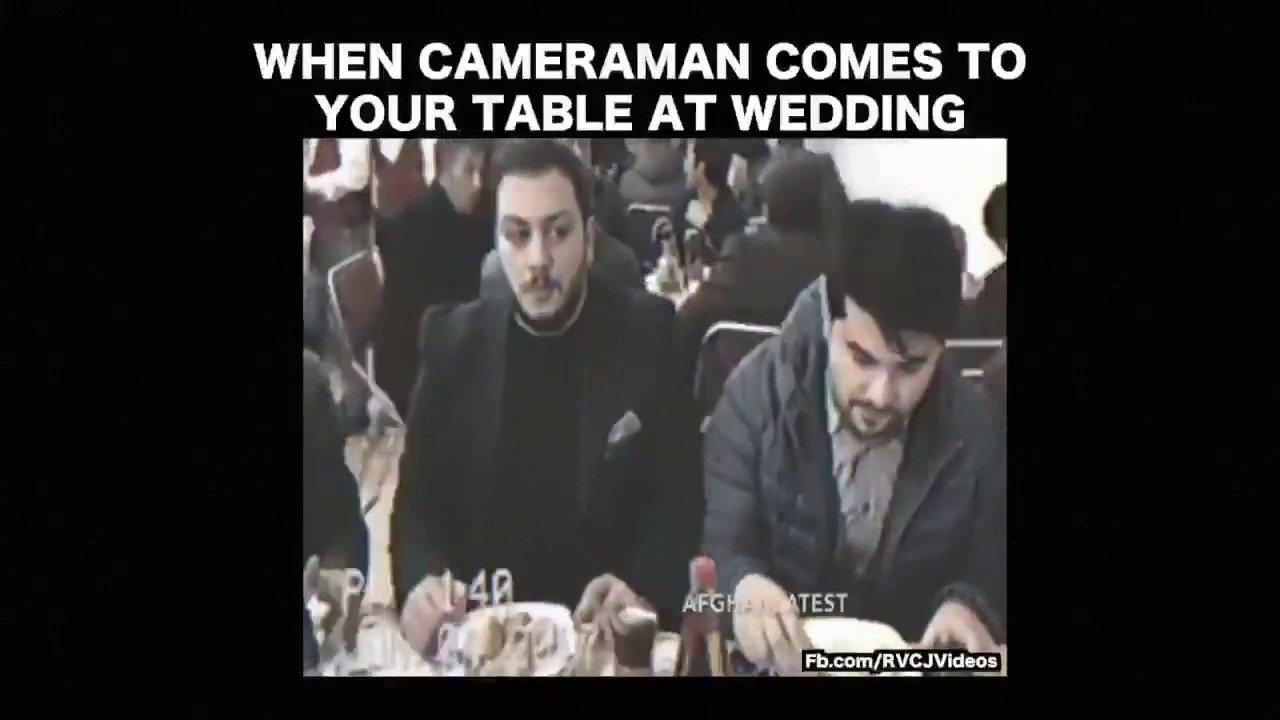 Funny Video When Cameramen Comes At You Table In Wedding Party