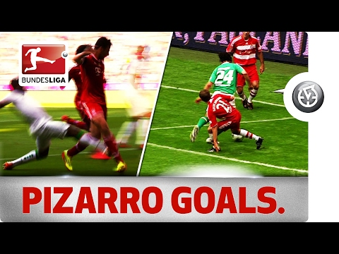 All Pizarro Goals Against Bayern and Bremen