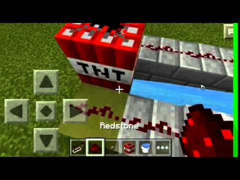 how to use redstone in minecraft with tnt