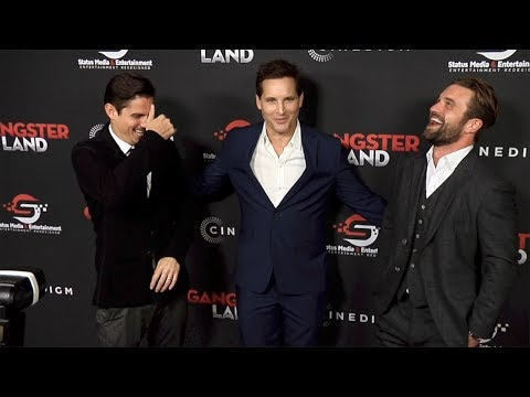 "Milo Gibson, Sean Faris, Peter Facinelli ""Gangster Land"" Premiere Red Carpet"