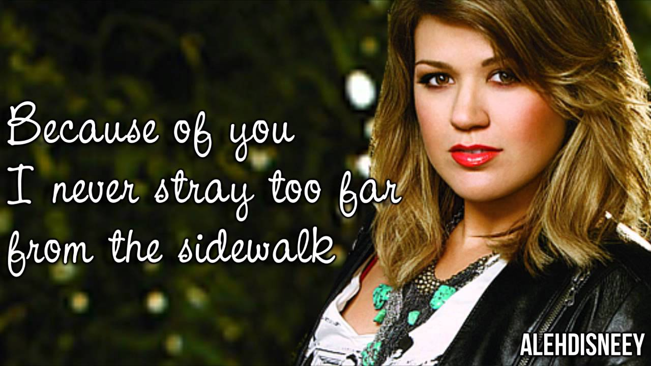 Kelly Clarkson - Because of You Lyrics On Screen HD - YouTube