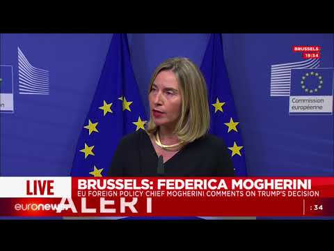 EU's foreign policy chief Federica Mogherini reacts to Trump's speech on the Iran nuclear deal