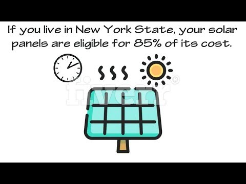 EXACTLY HOW 85% OF  SOLAR PANEL COSTS ARE PAID FOR BY GOVERNMENT TAX CREDITS AND INCENTIVES IN NY