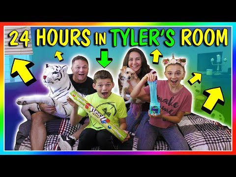 SPENDING 24 HOURS IN MY BROTHER'S ROOM | OVERNIGHT CHALLENGE | We Are The Davises
