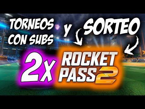 TORNEOS y  DOBLE SORTEO ROCKET PASS 2 | DIRECTO ROCKET LEAGUE thumbnail
