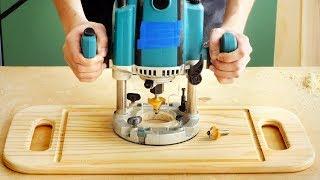 Фрезерование и изготовление сервировочной доски, milling wood serving board