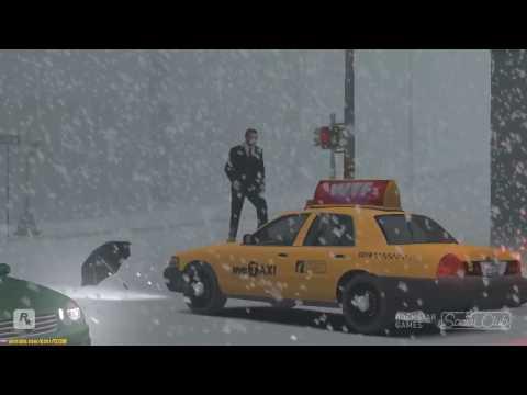 GTA 4 - Снегопад, зима!