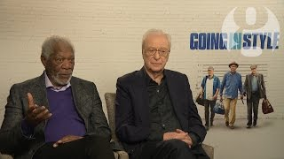 Michael Caine and Morgan Freeman on Going in Style: 'People have to be taken care of'