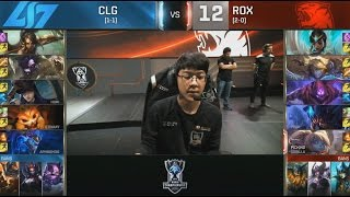 CLG (Huhi Aurelion Sol) VS ROX (Smeb Poppy) Highlights - S6 World Championship Group Day 4