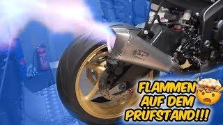 Flammen auf dem Prüfstand & brutaler Yamaha R6 Sound!