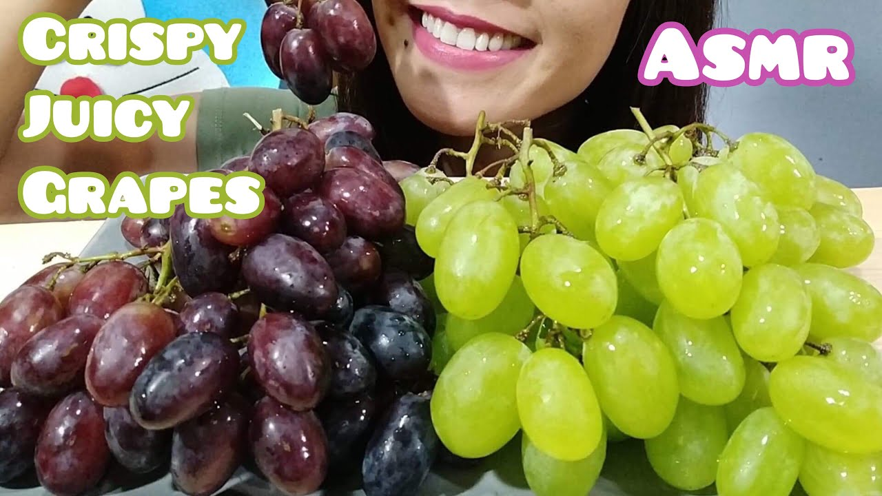 Asmr Super Crispy And Juicy Grapes Eating Sounds