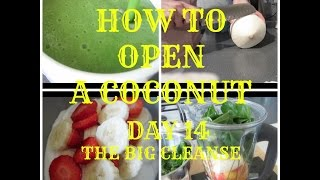 How to Open a Coconut + What I Ate - Day 14 - THE BIG CLEANSE