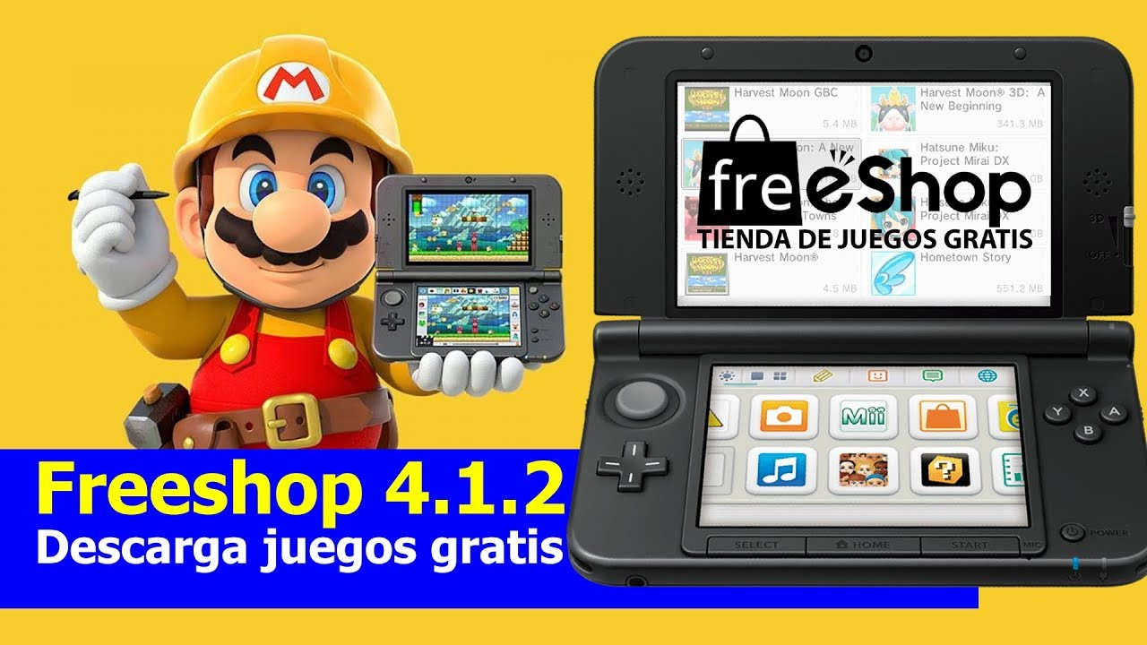Tutorial 3ds Freeshop 4 1 2 Instalar Juegos Gratis Youtube