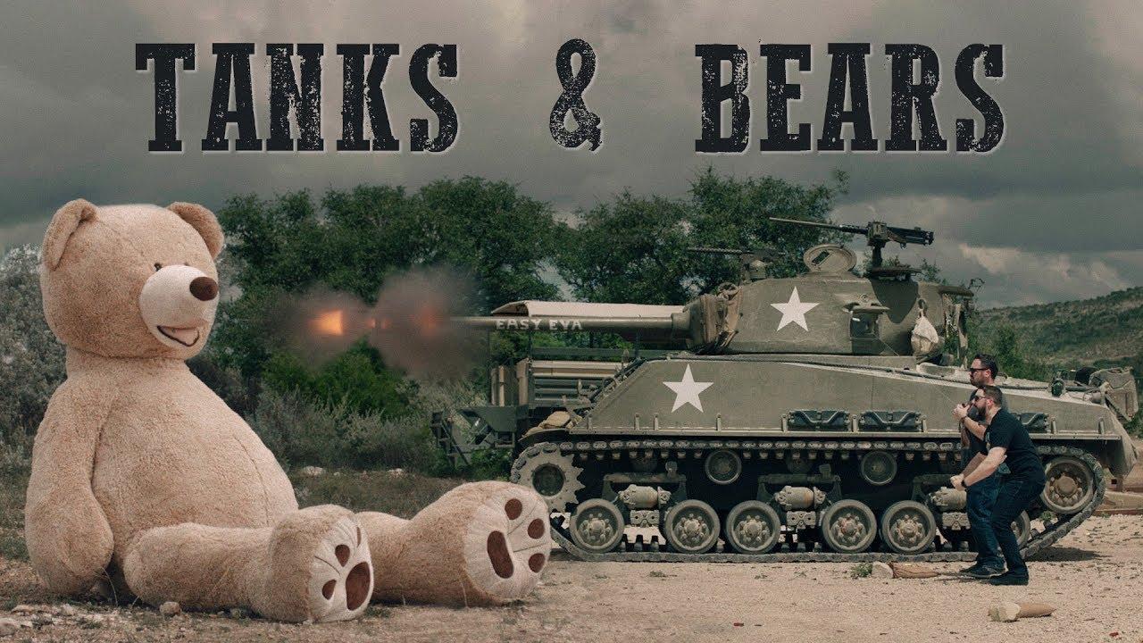 Army Tank Vs 6ft Teddy Bears Youtube