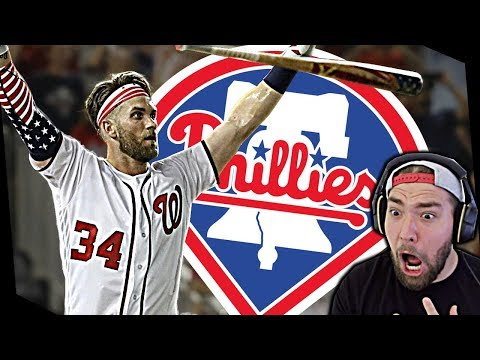 PHILADELPHIA PHILLIES SIGN BRYCE HARPER! PHILLIES FAN REACTS!
