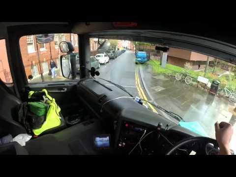 London truck driving. Drivers POV