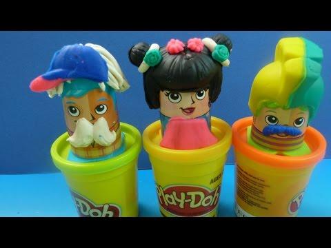 Play-Doh Cắt Tóc Tạo Kiểu Tóc ( lần 2) Cắt Tóc Cho Thầy Giáo (Bí Đỏ) Play-doh hair Salon Design Hair