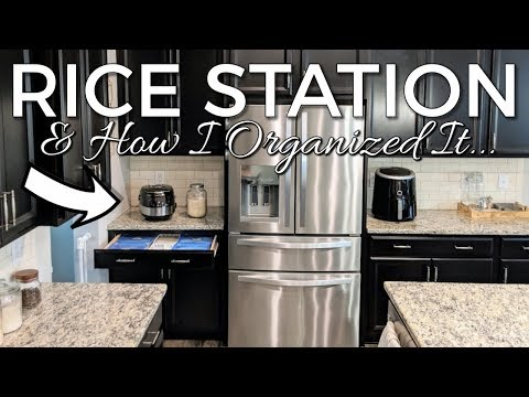 how-i-organized-my-rice-station-kitchen-organization-ideas-&-elechomes-rice-cooker-review!