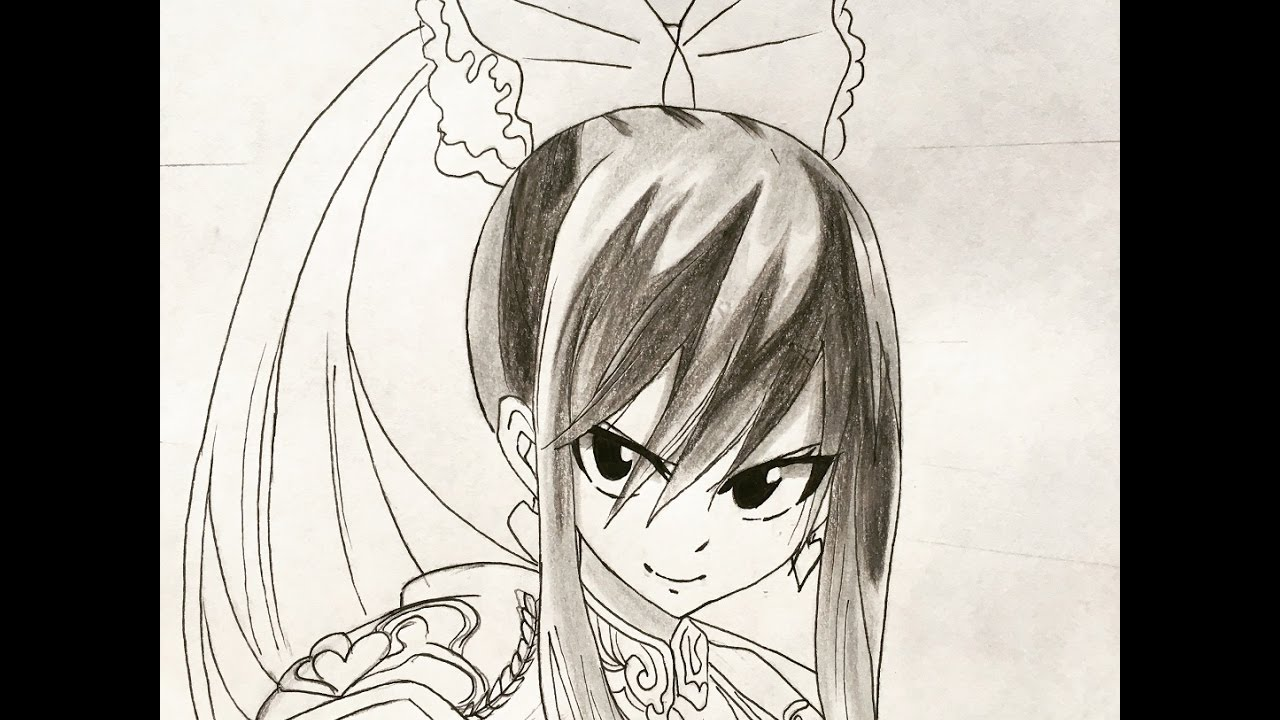 How to draw erza scarlet fairy tail