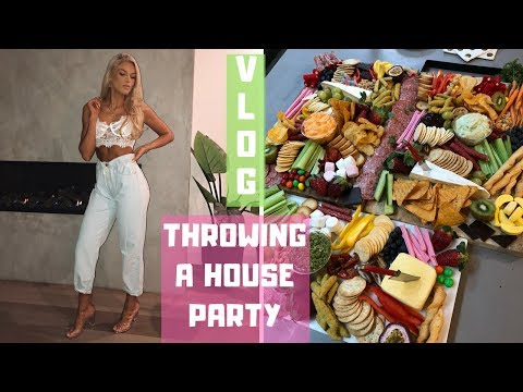 HOW TO HOUSE PARTY VLOG | Making Platters, Pre Party Errands, GRWM