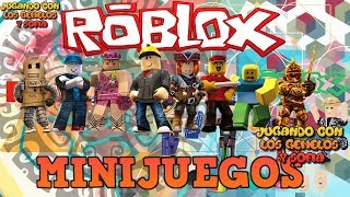 ROBLOX MINIGAMES PLAYING WITH THE GEMELOS AND SOFIA