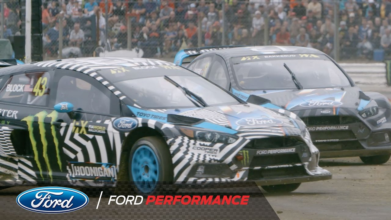 ken block and ford focus rs rx launch the 2017 race season fia world rallycross ford. Black Bedroom Furniture Sets. Home Design Ideas