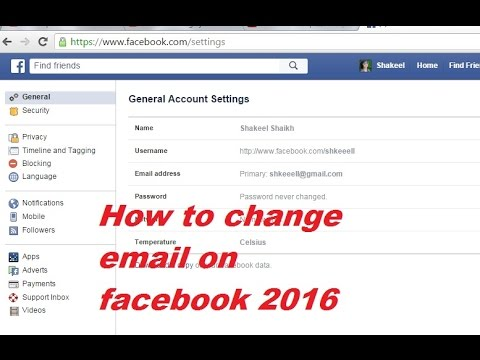 How to change my name appears on facebook account email address