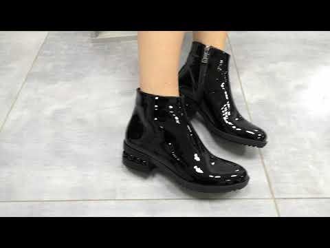 Лаковые ботинки в стиле шанель 🖤 от ТМ Gino Figini