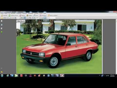 Peugeot 504 Manual Y Despiese Completo Naftero Y Diesel En Espanol