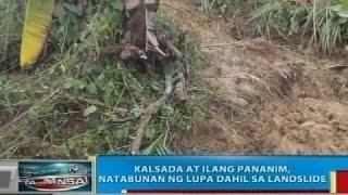 BP: Kalsada at ilang pananim sa Pagadian City, natabunan ng lupa dahil sa landslide