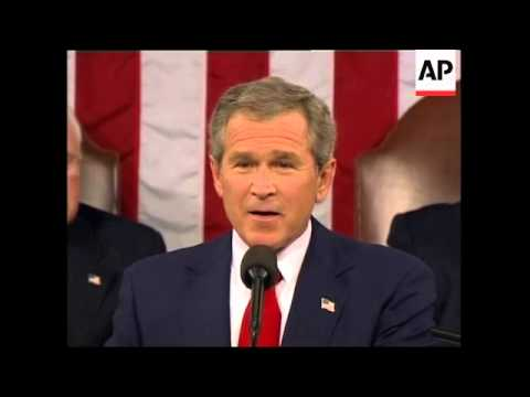 EDIT of President George W Bush's State of the Union address