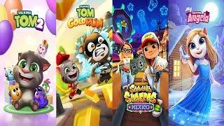 Subway Surfers vs Talking Tom Gold Run - My Talking Tom 2  vs My Talking Angela Android Gameplay