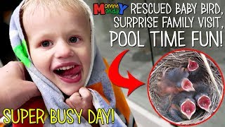 Baby Bird Rescue!!  Surprise Visit & Summer Fun || Mommy Monday