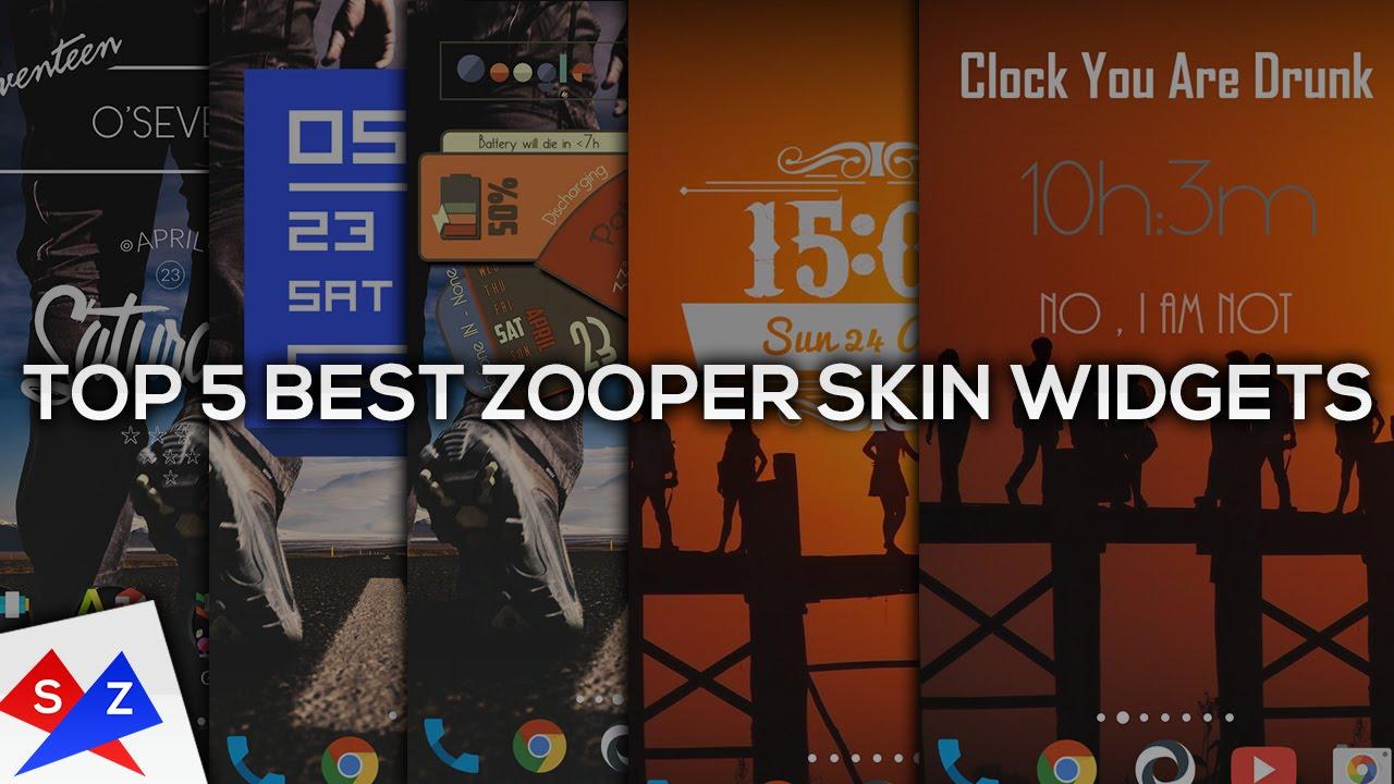 Top 5 Best Free ZOOPER WIDGETS Apps/Skins/template 2016