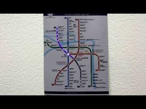 Анимированная карта метро Санкт-Петербурга на светобумаге.